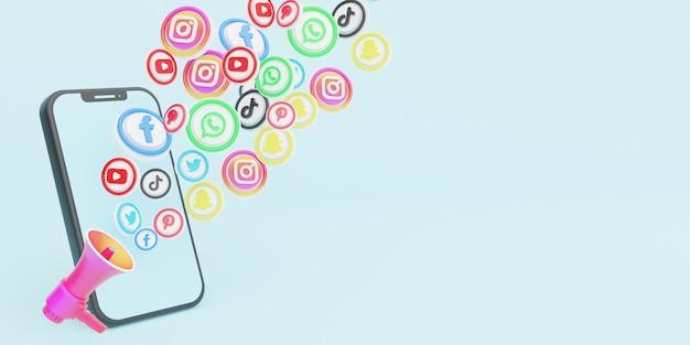 Pagina di destinazione del marketing sui social media digitali