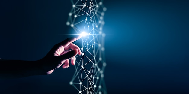 Trasformazione digitale concettuale per l'era della tecnologia di prossima generazione
