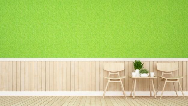 Sala da pranzo nel ristorante o nella caffetteria - rendering 3d