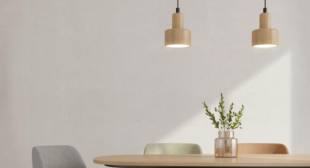 Sala da pranzo in stile minimal interno. Foto Premium
