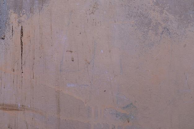 Un muro di beton riempito grigio sporco
