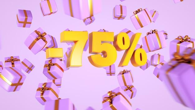 Sconto del 75% un regalo per le vacanze con un grande sconto sconti autunnali per i regali