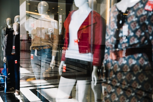 Visualizzazione del negozio di abbigliamento