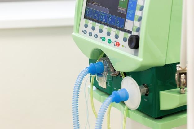 Display con pulsanti per il funzionamento della ventilazione polmonare artificiale