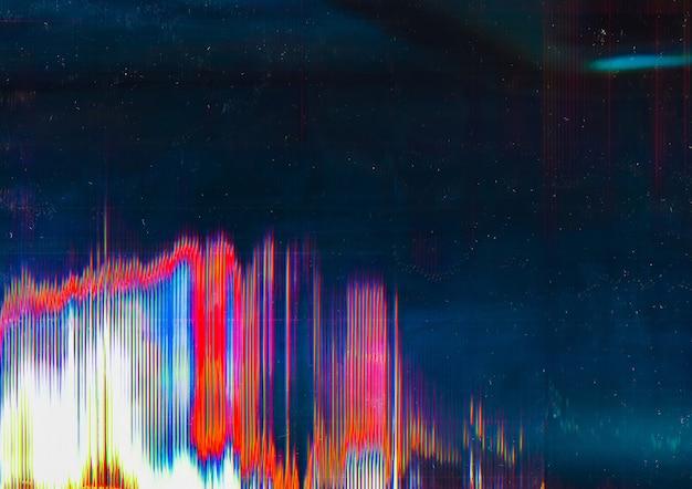 Visualizzazione distorta. rottura del sistema. sovrapposizione del motivo glitch.