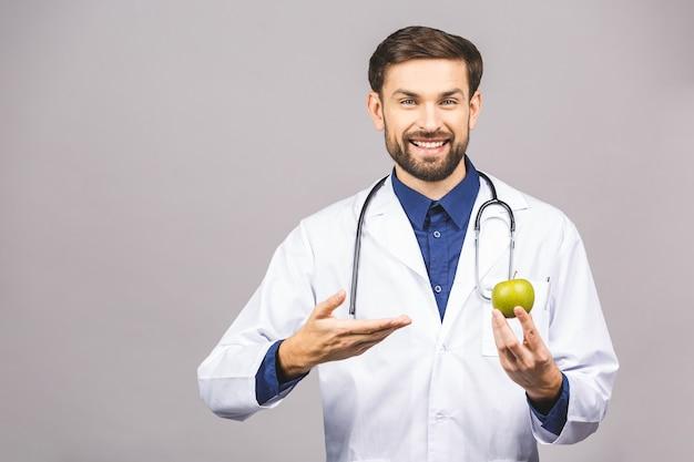 Aggiusti dare il concetto della mela per il cibo e lo stile di vita sani o la buona dieta