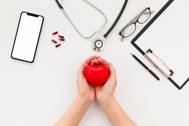 Dottore cuore in miniatura