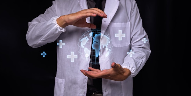 Dottore con simbolo punto medico