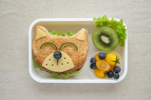 Scatola per il pranzo del cane, arte divertente per i bambini
