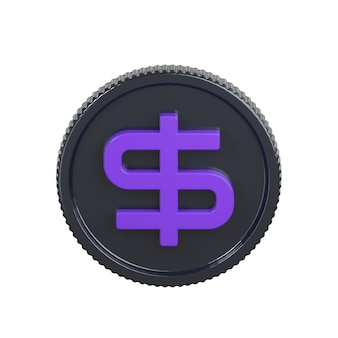 Icona della moneta del dollaro isolato su bianco