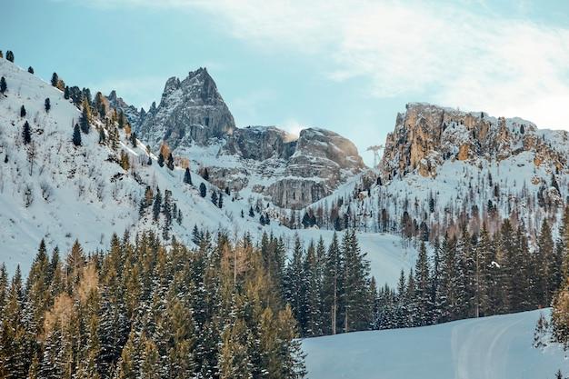 Dolomiti montagne coperte di neve