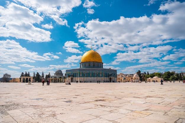 Cupola della roccia moschea di al-aqsa, città vecchia di gerusalemme, palestina