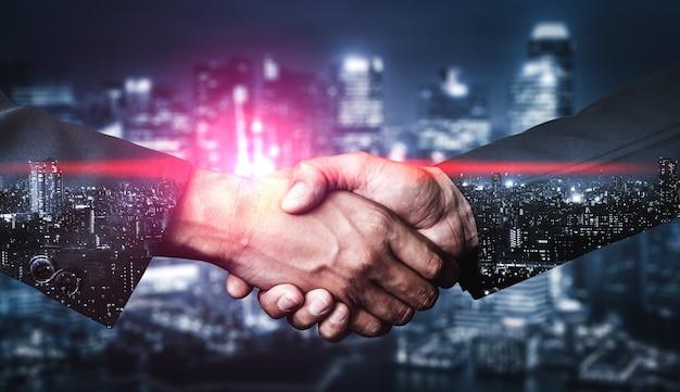 Immagine a doppia esposizione del concetto di business