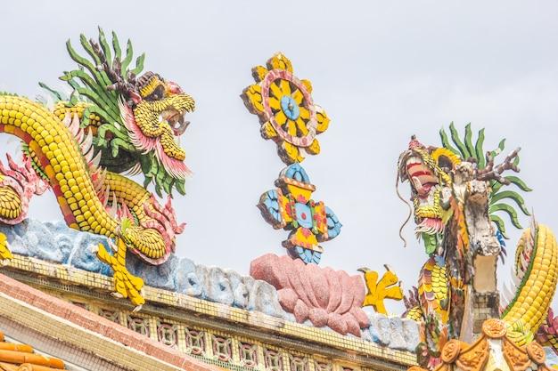 Statua del drago nel santuario