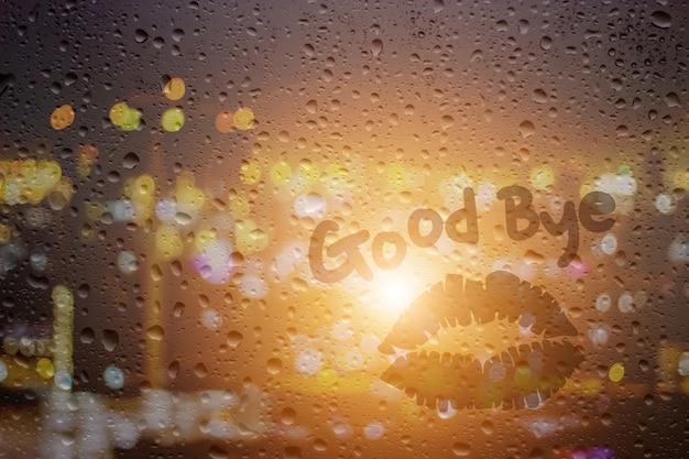 Disegnare buona notte sulla finestra