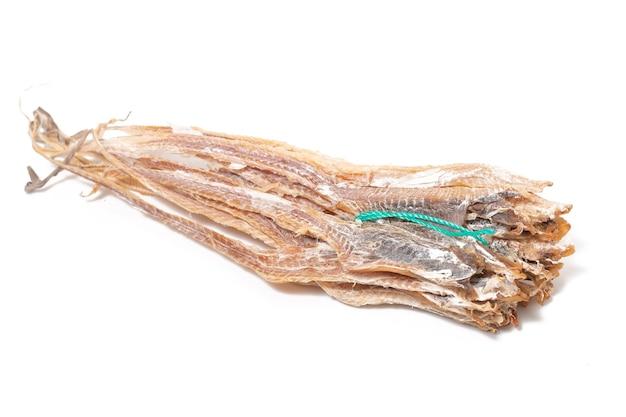 Gattuccio essiccato blackmouth (galeus melastomus) o noto come litao nella città di olhao, portogallo.