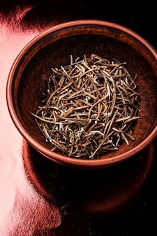 Foglia di rosmarino erbe secche