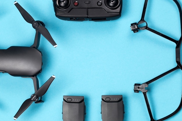 Drone e suoi accessori Foto Premium