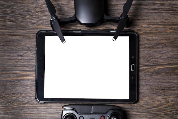 Tablet drone e telecomando