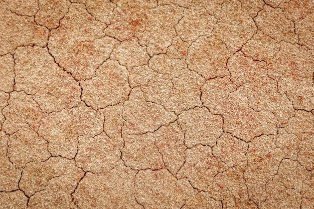 Struttura del pavimento incrinato a secco