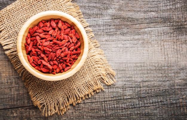 Bacche di goji rosse secche