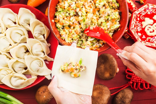 Gnocchi per festival cinesi festival cinesi