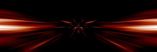 Linee dinamiche di luce. luce dallo sfondo del punto centrale