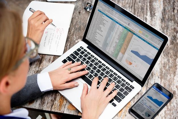 Dati di commercio di e-business che collegano concetto globale