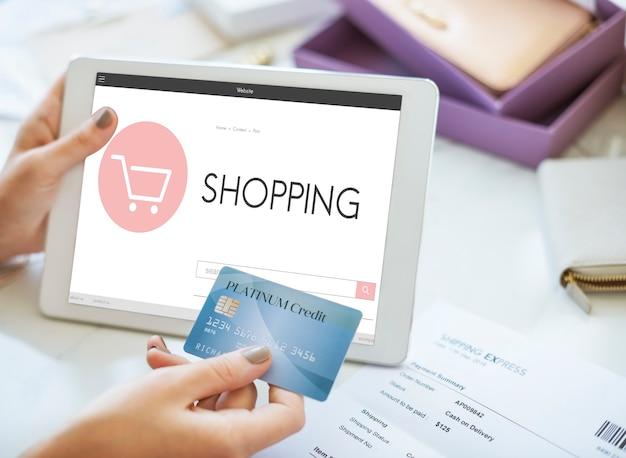 E-commerce shop online homepage vendita concept