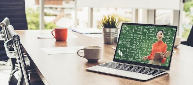 E-learning e formazione online per studenti e concetto universitario