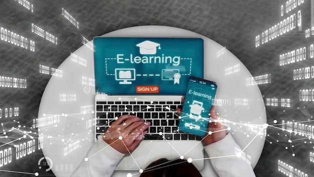 E-learning per studenti e università concettuale