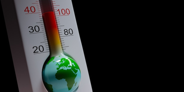 Termometro di terra, concetto di pandemia globale