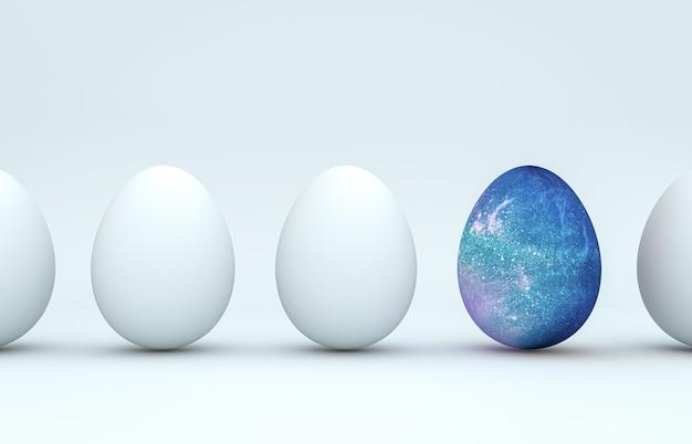 Uova di pasqua decorazione sfondo rendering 3d