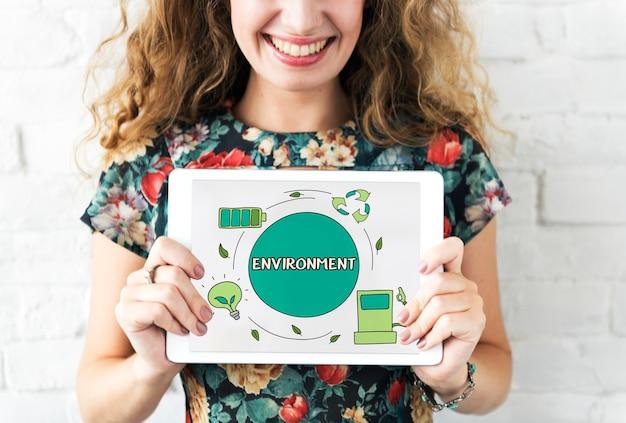 Eco risparmio energetico conservazione ambientale concetto di ecologia