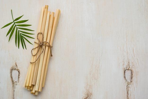 Cannucce in tubo di bambù ecologico