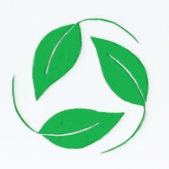 Etichetta ecologica con effetto 3d