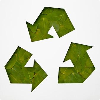 Concetto di riciclaggio ecologico