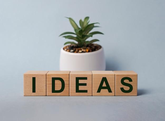 Concetto di idee eco. iscrizione, parola sui cubi.