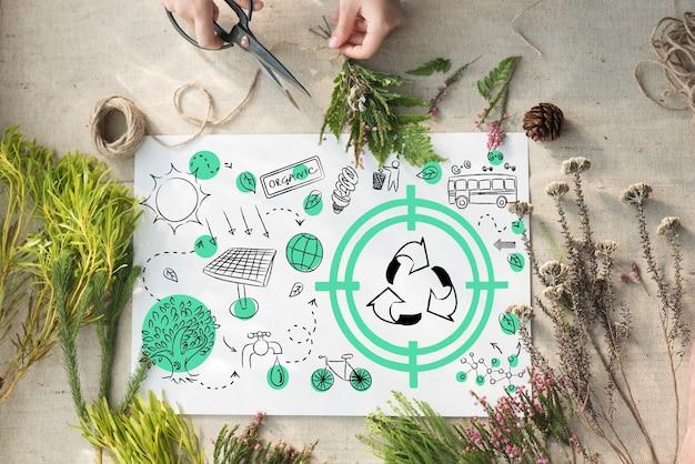 Ecologia amichevole energia ambiente concetto sostenibile