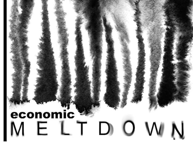 Crollo economico. codice a barre fuso. concetto di recessione economica