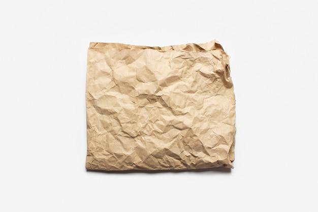 Bordo della trama della carta stropicciata artigianale