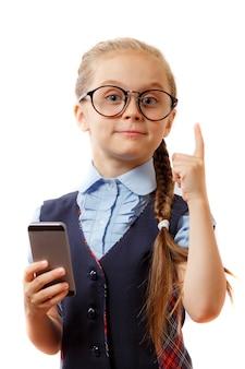 Istruzione, dipendenza da telefono, tecnologia, internet, reti sociali, concetto pre-adolescenti.