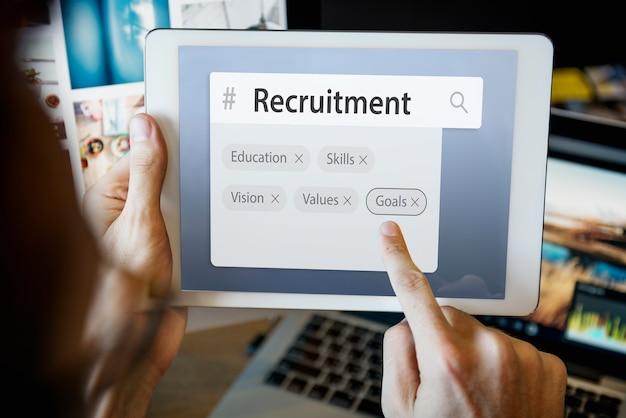 Ricerca di parole di reclutamento di abilità di formazione