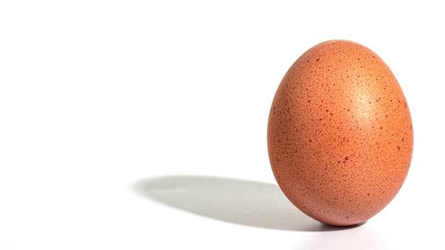 Concetto di minimalismo dell'uovo.