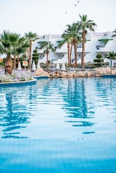 Hotel tropicale egiziano con piscina