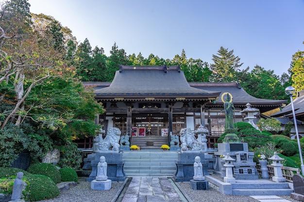 Tempio di eigenji momiji foglie autunnali nella prefettura di ibaraki in autunno