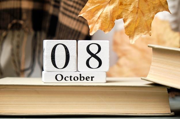 Ottavo giorno del mese di autunno del calendario ottobre