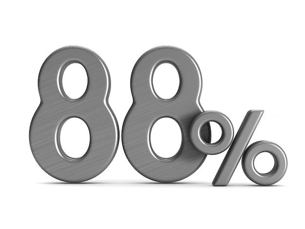 L'ottantotto percento su sfondo bianco
