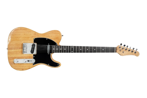 Chitarra elettrica isolata su white