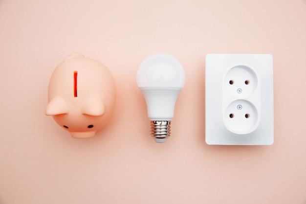 Concetto di economia energetica energia elettrica